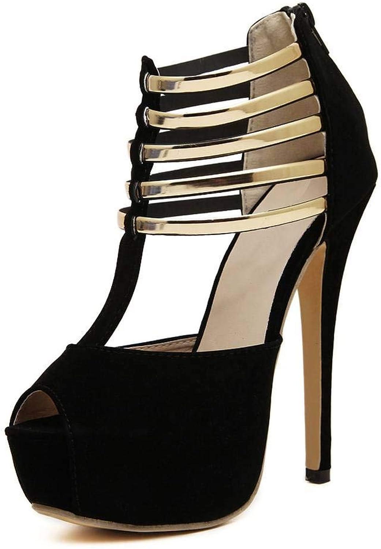 Fereshte Women's Velvet Cross Strappy Peep-Toe Platform Wedges Heels Sandals