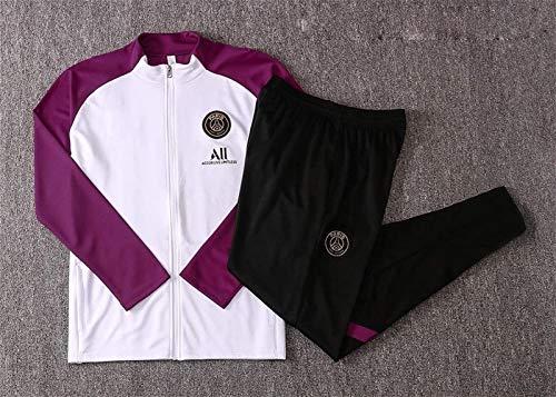 YDoo DZHTSWD 20-21 Paris Saint-Germain F.C. Competition Suit Men's Top + Pants Jersey Football Training Suit Adult Jacket Sportswear Suit Official Gift,Size:L (CH : Small)
