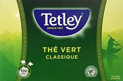 TETLEY boîte de 100 sachets Tir Press sans Protect Arôme Thé Vert Classique 150 g parent