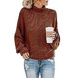 Avsvcb Otoño/Invierno suéter de Punto de Comercio Exterior Europeo y Americano de Las Mujeres de Hilo Grueso...