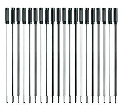 MengRan 4.5'' Ballpoint Pen Refills, Medium Point Pen Refill -Black ink.Pack of 20