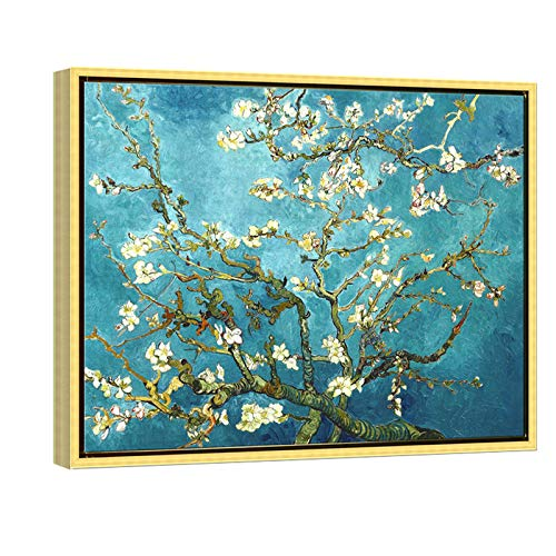 Wieco Art Flowers Paintings Canvas Wall Art for Living Room...
