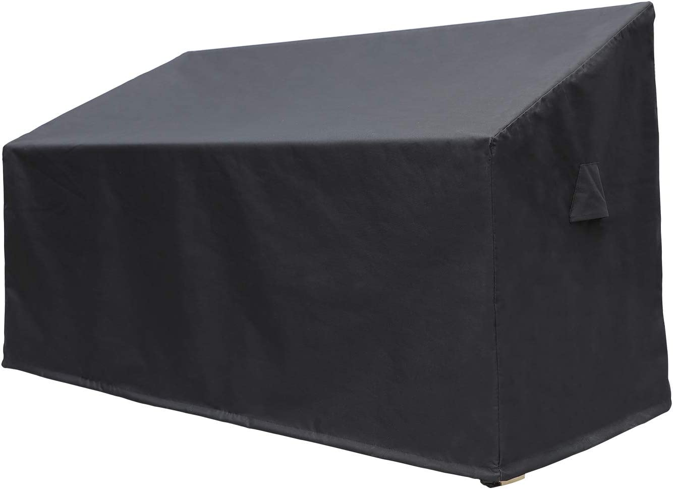 NEBULALAND Patio Cover 3-Seater Black Loveseat Cover 600D Heavy Duty Outdoor Lounge Sofa Cover, Lawn Patio Furniture Covers, 100% Waterproof Furniture Cover with Air Vent, Outdoor Furniture