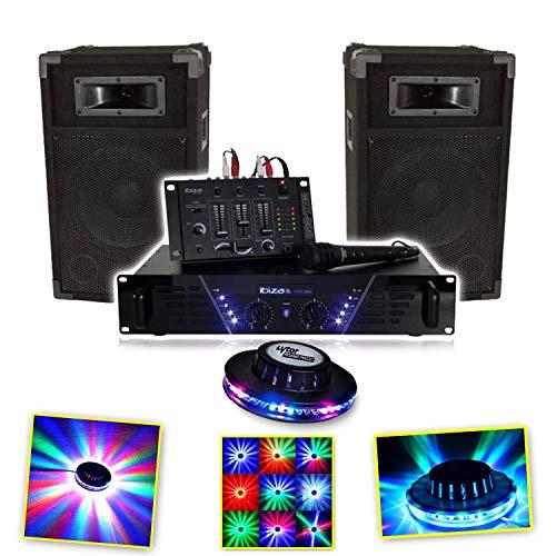 IBIZA DJ-300 Kit de sonorisation DISCO 480W + RoundMagic LytOr LED RVB