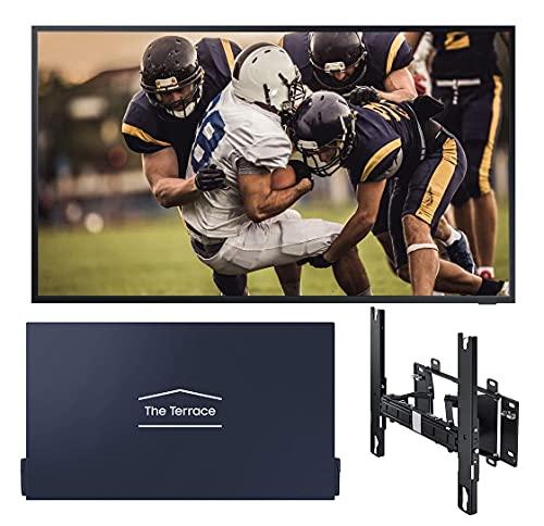Samsung Terrace QN65LST7TA 65' Outdoor QLED 4K UHD Smart TV with a Samsung Terrace VG-SDC65G 65' Dark...