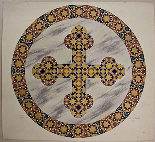 H. W. Fichter Kunsthandel DEUTSCH-RÖMER, 1867, Santa Maria in Aracoeli in Rom, Marmor-Mosaik Kanzel/Chor