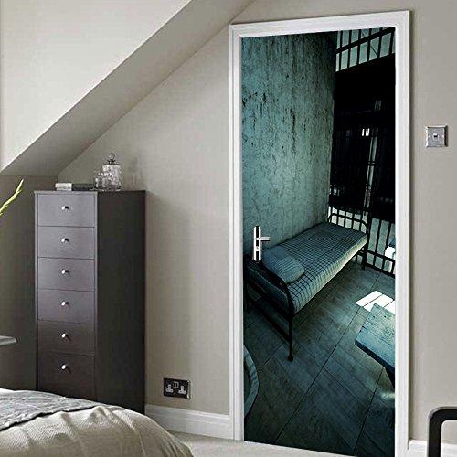 3D deurfoto behang, opvangruimte idee voor slaapkamer, keukendeur, decoratie, waterdicht, zelfklevend vinyl materiaal 80x210cm