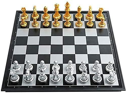 ZHBH International Chess 32x32cm, magnetic chess For adults, foldable chessboard Plastic, gifts for students/Competition Special/Educational Toys For Children Chess Board Chess Sets