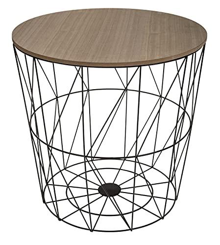 Beistelltisch rund 3er Set Dekotisch Korbtisch Dekokorb Aufbewahrungskorb Korb Deko Tisch Aufbewahrungstisch Couchtisch Hocker