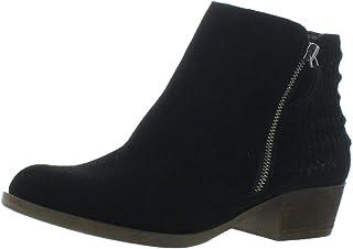 Kensie Womens Granger Suede Ankle Booties Black 11 Medium (B,M)