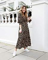 The Drop Vestido para Mujer, Maxi, con Escote en Pico, Estampado de Cebra, por @wearetwinset, XXS