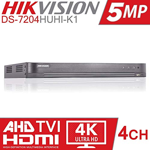 HIKVISION 5 MP Turbo HD DVR 4 CH Kanal CCTV Digital Video Recorder TVI ds-7204huhi-k1