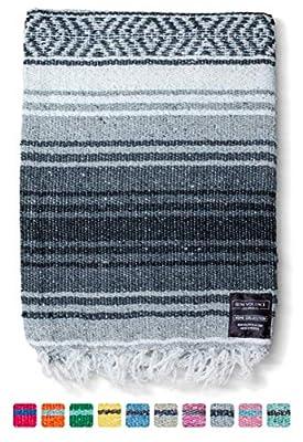 Mexican Blanket Falsa Blanket | Authentic Hand Woven Blanket, Serape, Yoga Blanket | Perfect Beach Blanket, Navajo Blanket, Camping Blanket, Picnic Blanket, Saddle Blanket, Car Blanket