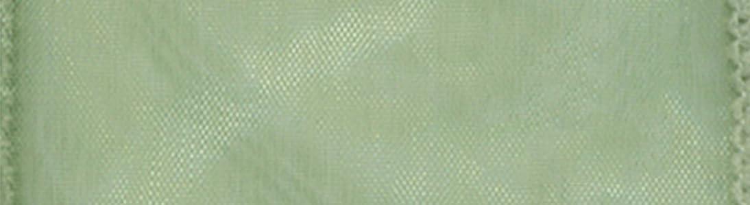 Morex Ribbon Wired 1-Inch Chiffon Ribbon with 25-Yard Spool, Moss