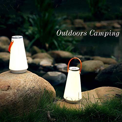 XHSHLID draagbare draadloze campinglamp met nachtlampje, oplaadbaar, tafellamp met touch-sensor, oplader voor buiten, slaapkamer, boeken