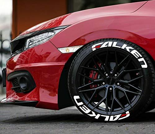 Falken - Pegatinas permanentes de goma para neumáticos de 1 pulgada para ruedas de 14 a 22 pulgadas, 8 unidades