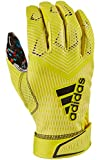 adidas Adizero 8.0 All American Pack Receiver's Football Gloves Yellow Large