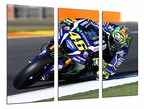 Fotografie Bild Motorrad Valentino Rossi, Motorrad, Yamaha, Straße Gesamtgröße: 97 x 62 cm XXL