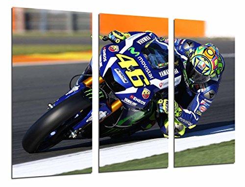 Cuadro Fotográfico Moto Valentino Rossi, Motorista, Yamaha, Carretera Tamaño total: 97 x 62 cm XXL