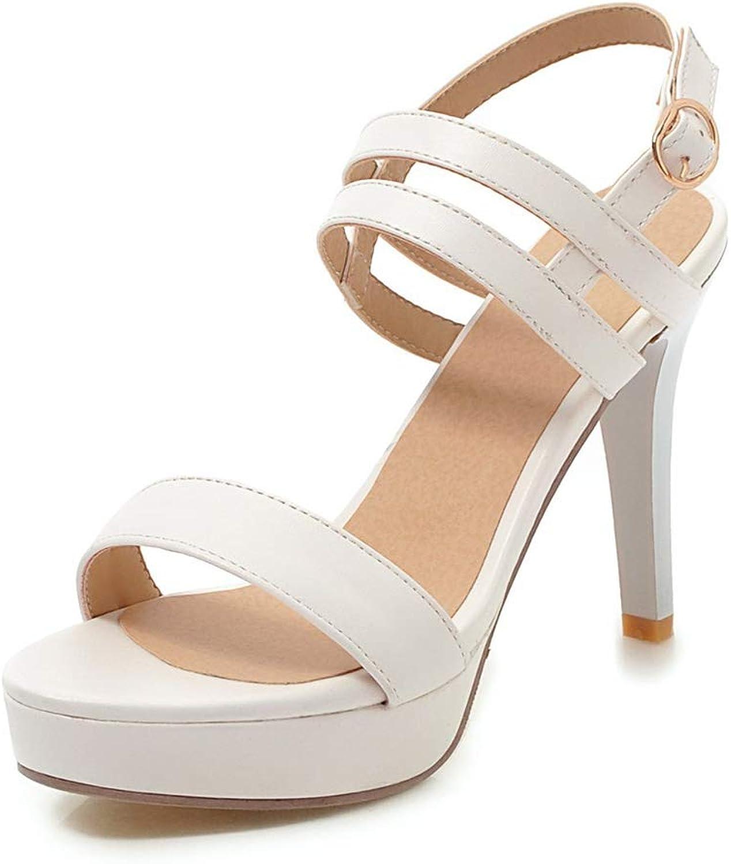 Summer Women Sandals Buckle Platform Stiletto Heel shoes Elegant Extreme High Heel Party Sandals