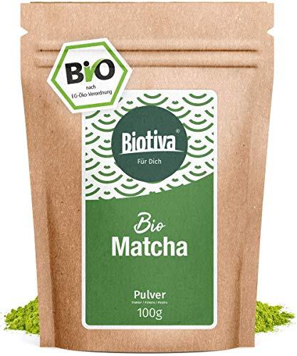 Matcha-Tee Bio 100g - Original Matchapulver - Tee, Latte, Smoothies - hochwertigster Biomatcha - 100% nachhaltiger Anbau - Abgefüllt und kontrolliert in Deutschland (DE-ÖKO-005)