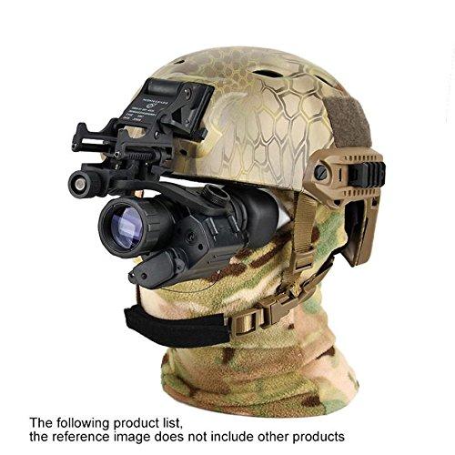 BINOCULARS Infrarrojos Militares Llevando un Casco de Estilo de Alta Definición de Visión Nocturna Binoculares Monocular Dispositivo de Visión Nocturna Digital,Negro