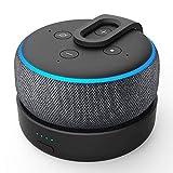 GGMM D3 Tragbare Ladestation für Dot (3.Gen.), Powerbank & Batterie Akku für Smart Lautsprecher, 8 Stunden Akkulaufzeit, Schwarz (Dot 3 Nicht enthalten)