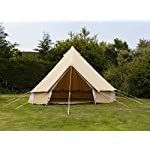 5m 100% Cotton Canvas Bell Tent With Heavy Duty Zipped In Groundsheet, Camping, Glamping, Festival, Luxury Teepee 6