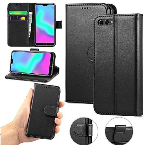Huawei P62018Case, Huawei P62018[Halter Halterung] [Magnetverschluss] Premium Leder Flip Brieftasche case Cover für Huawei P62018Smartphone, Schwarz, Galaxy A3 (2017)