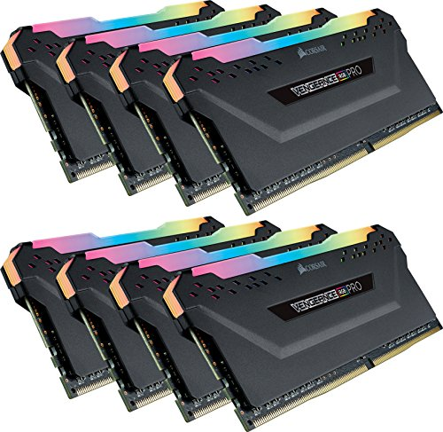 Corsair Vengeance RGB PRO 16GB (2x8GB) DDR4 2666MHz C16 XMP 2.0 Enthousiast RGB LED-verlichting geheugenset 3000 MHz. 8x8GB Vengeance RGB PRO