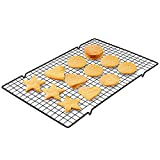 Stainless Steel Cooling Rack for Baking,Heavy Duty Cookie Racks Oven & Grill Safe Fit for Half Sheet Baking Pan, BBQ Oven Use 15.7x9.8 in