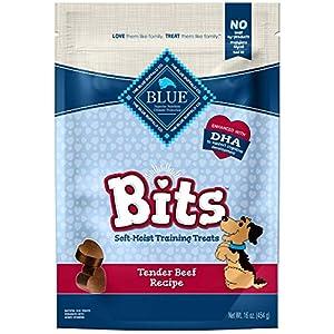 Blue Buffalo Blue Bits Natural Soft-Moist Training Dog Treats, Beef Recipe 16 Oz Bag