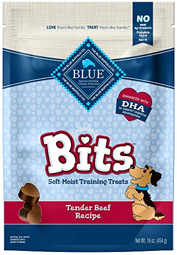 Blue Buffalo BLUE Bits Natural Soft-Moist Training Dog Treats, Beef Recipe 16-oz bag