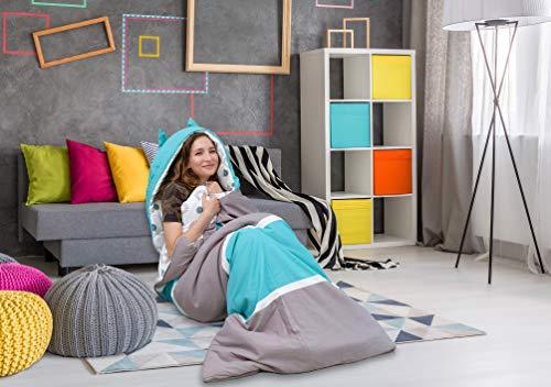 Chic Home - Schlafsäcke in Grau/Aqua, Größe Twin XL