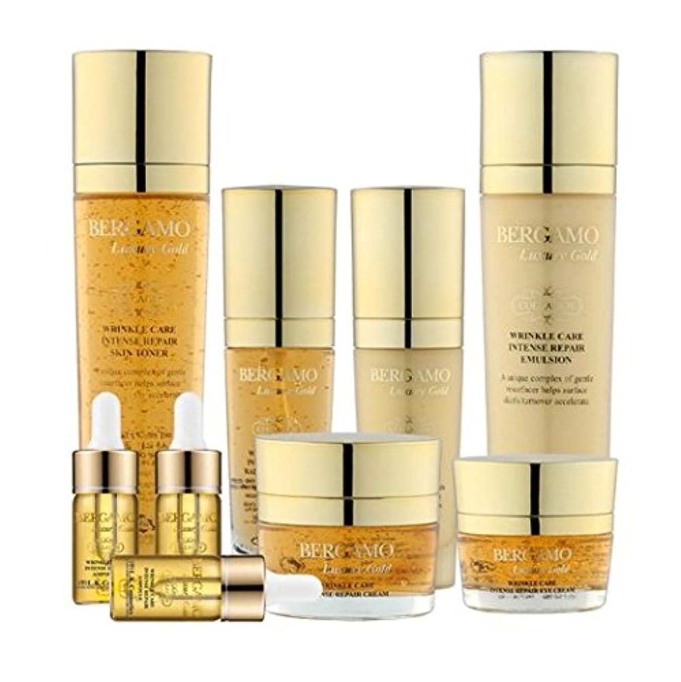 水分公早くベルガモ[韓国コスメBergamo]Luxury Gold Collagen Set ラグジュアリーゴールドコラーゲン9セット,ギフトセット,トナー,エマルジョン,エッセンス、アイクリーム、クリーム、アンプル [並行輸入品]