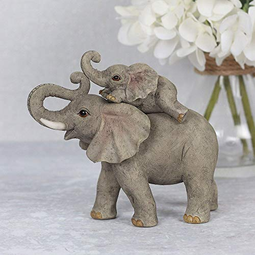 something different Elephant Adventure Mother and Baby Elephant Ornament