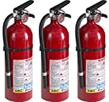 Kidde 21005779 Pro 210 Fire Extinguisher, ABC, 160CI, 4 lbs, 1 Pack (3 Pack)...