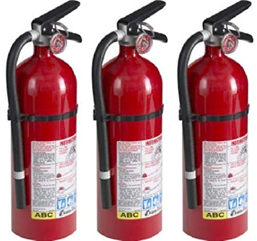 Kidde 21005779 Pro 210 Fire Extinguisher, ABC, 160CI, 4 lbs, 1 Pack (3 Pack)