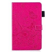 FlipBird iPad Mini 1/2/3 ケース, 【バタフライエンボス】フォリオスタンドスマートフルボディショックプルーフカードカバー付保護カバーケース for iPad Mini 1/2/3 Rose Gold