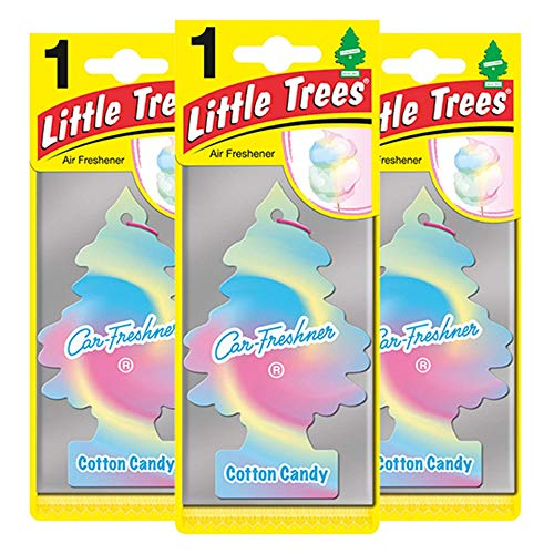 LITTLE TREES LTZ046 Lufterfrischer, Cotton Candy, Triple Pack, Set of 3