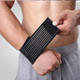 AGIA TEX 2er Set Stützbandage Knöchel Handgelenk-Bandage elastisch schwarz