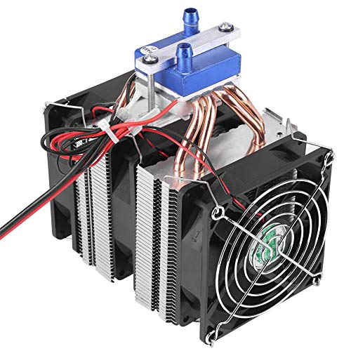 DC 12V Thermoelectric Cooler Peltier System Semiconductor Refrigeration Water Chiller Cooling Device for Fish Tank (120W for 30L Tank)