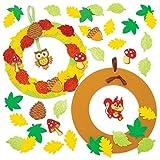 Baker Ross Herbst Kranz Bastelsets (3 Stück) - Kinder Kunst und Bastelhandwerk für Herbst und Winter