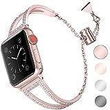 Aottom Compatible pour Bracelet Apple Watch 5 40mm Or Rose,Bracelet Acier Apple Watch 38mm Bracelet...