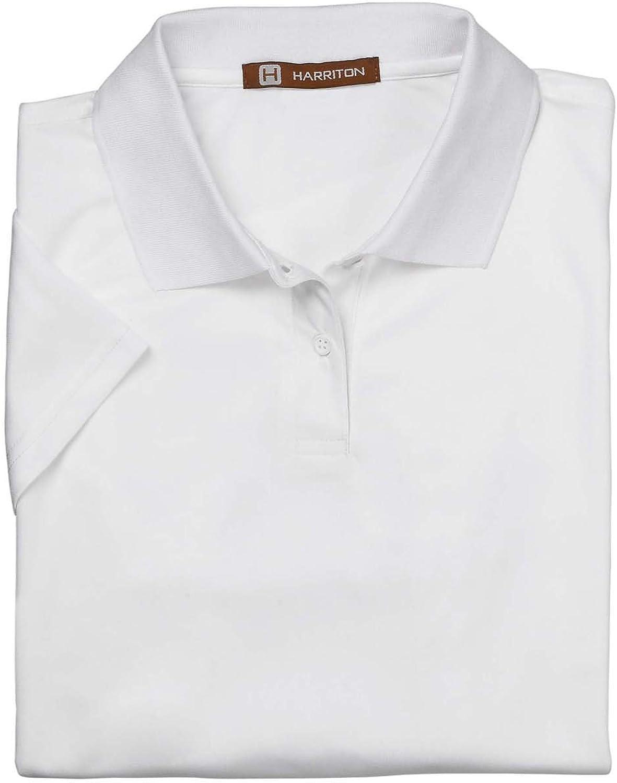 Harriton Ladies' 4 oz. Polytech Polo - WHITE - XL M315W-simple