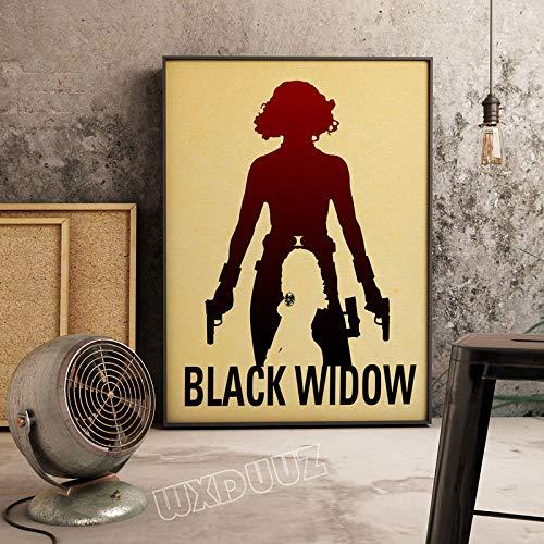 SDFSD Einfache Bunte amerikanische Superheld Filmfigur Cartoon Poster für Kinderzimmer Schlafzimmer Wandkunst Bild Leinwand Malerei 50 * 70cm P.