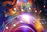 Leowefowa Dreamy Colorful Nebula Music Note...