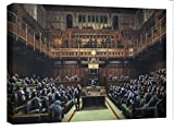 Canvashop Quadri Moderni cm 100x70 Banksy Parlamento stampa su tela canvas Quadro bansky Parliament opere Street art