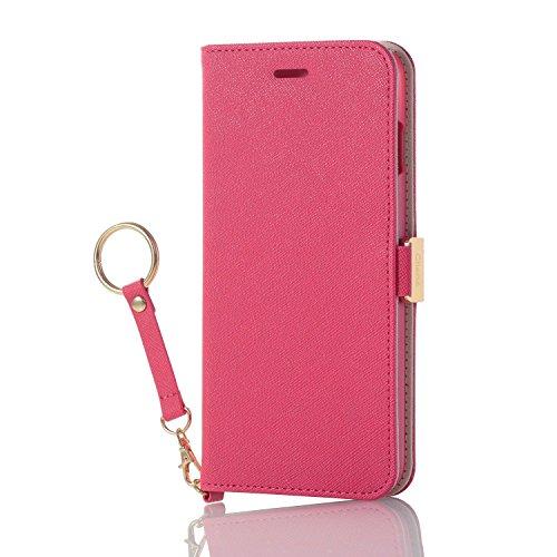 エレコム iPhone 8 Plus/ソフトレザーカバー/女子向/Dピンク