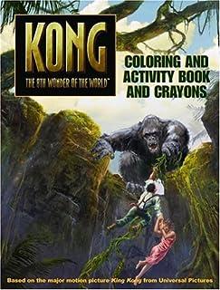 King Kong Coloring and Activity Book and Crayons